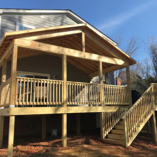 A new deck getting installed in Fort Mill & Rock Hill, SC